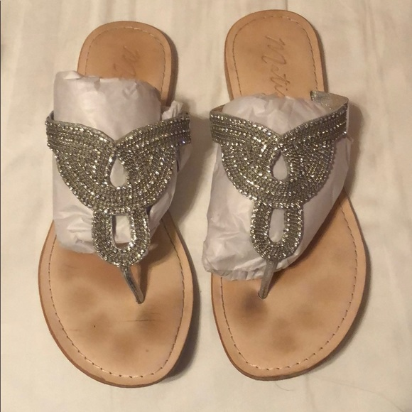 ea62d1266 Matisse Shoes - Silver Rhinestone Flats Size 11